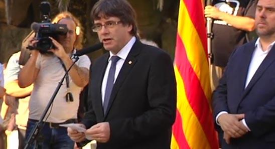 Puigdemont se reafirmó ayer ante la tumba de Companys