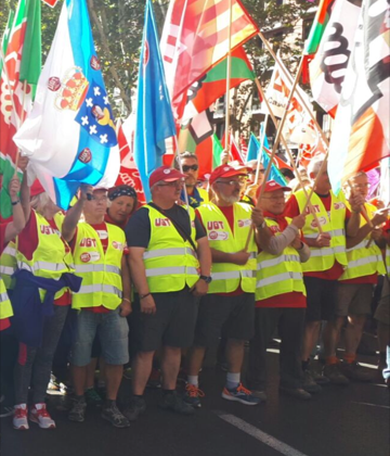 Los sindicatos de clase en la calle en demanda de pensiones dignas