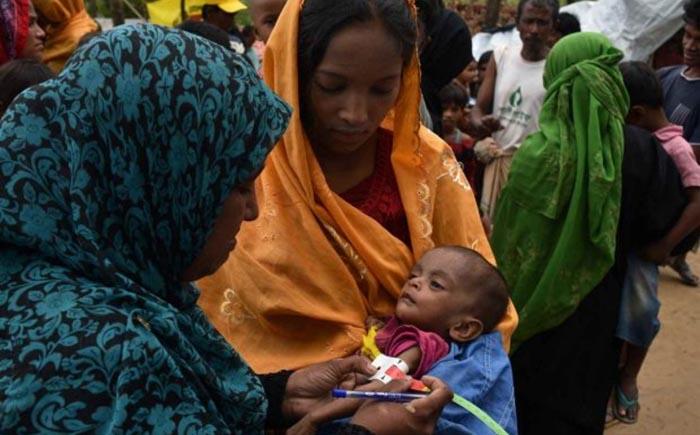 Uno de cada cuatro niños rohingya en Bangladesh está pasando hambre