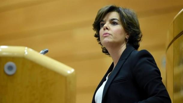 """Soraya llama """"fanáticos religiosos"""" a los independentistas"""