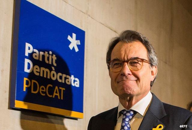 Artur Mas dimite como presidente de PDeCAT