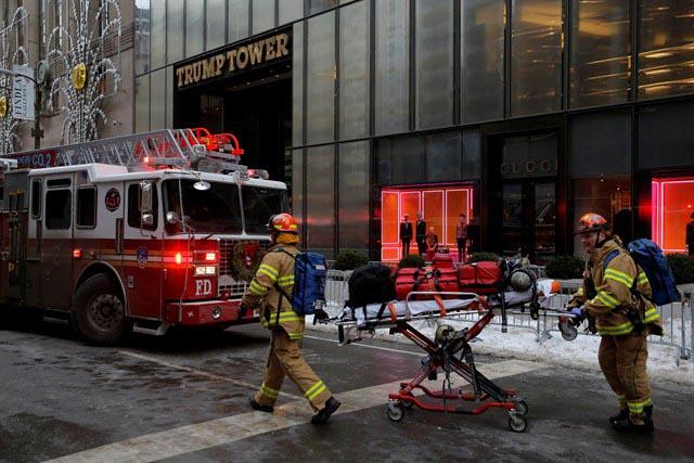 Arde la Torre Trump de Nueva York