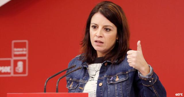 Lastra confirma que los cargos del PSOE se subirán el sueldo solo 0,25% en solidaridad con los pensionistas