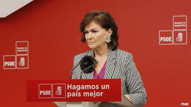 """Carmen Calvo (PSOE): """"No aceptamos que el resto de partidos nos diga lo que tenemos que hacer"""""""
