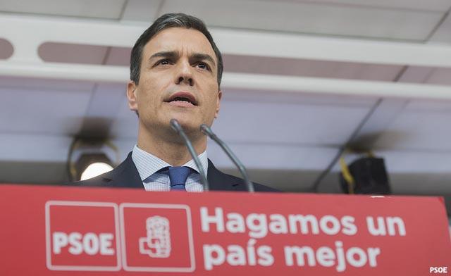 """Pedro Sánchez: """"El PSOE da una respuesta serena, firme y constitucional"""""""