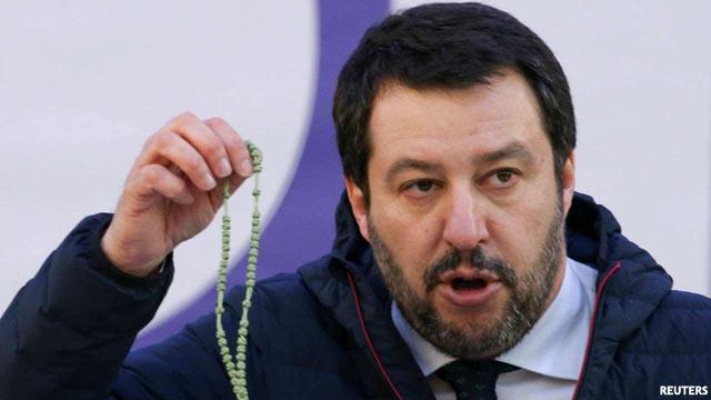 Salvini al borde del nazismo: considera que Italia se está convirtiendo en un campo de refugiados