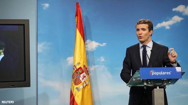 """Casado: """"El 28 de abril los españoles elegirán entre Frente Popular o Partido Popular"""""""