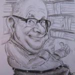César García Cimadevilla caricaturizado.