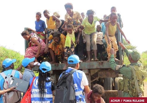 Huida masiva de población del Congo