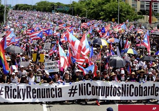 Gases lacrimógenos en Puerto Rico