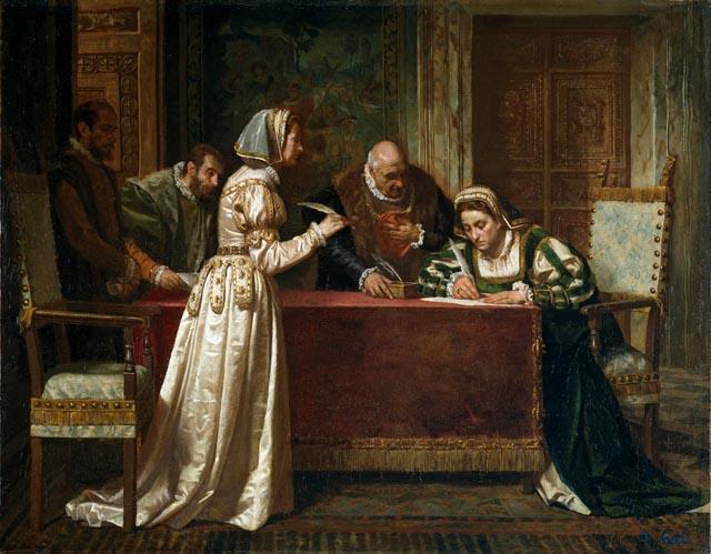 La Paz de las Damas, de Francisco Jover y Casanova. Museo del Prado.