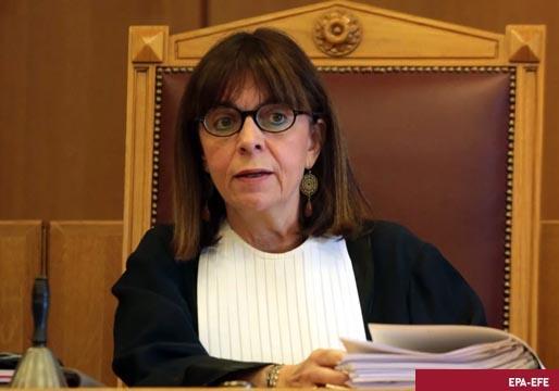 Katerina Sakellaropoulou, la primera mujer presidente de Grecia
