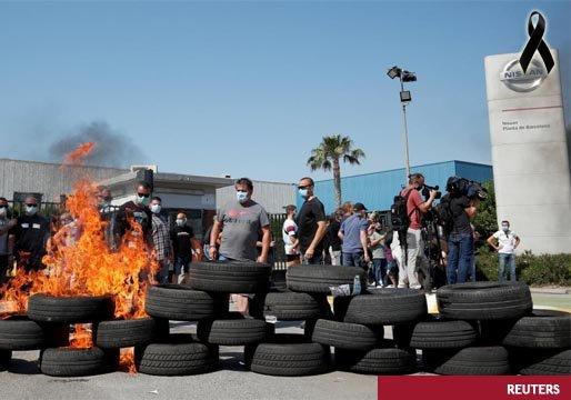 Altercados, protestas y quema de neumáticos en las puertas de Nissan