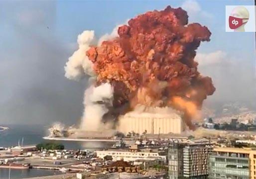 Cien muertos por explosiones en el puerto de Beirut