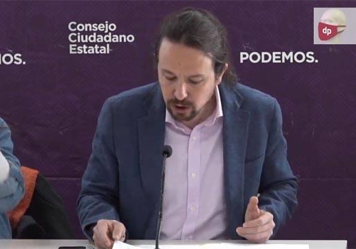 Iglesias explica que uno de los objetivos es acabar con la monarquía