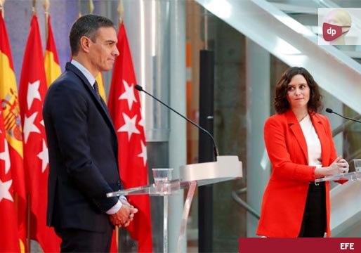 Sánchez y Ayuso acuerdan coordinarse frente a la pandemia