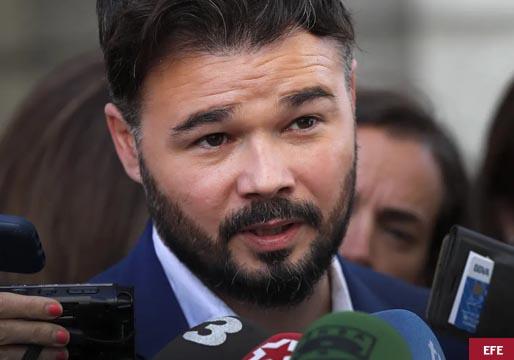 Rufián acusa a los socialistas de querer votos por encima de las vidas