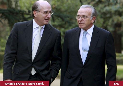 Brufau y Fainé, imputados por contratar a Villarejo para espiar a Rivero