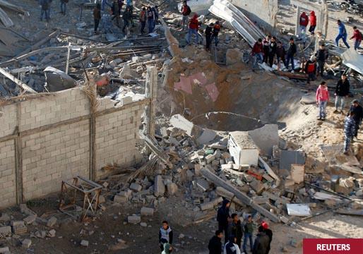 Cincuenta palestinos muertos tras los bombardeos de Israel