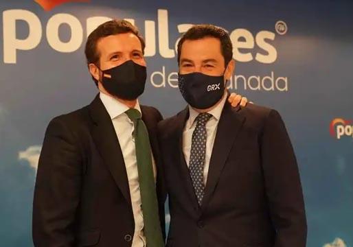 Casado insta a Moreno a adelantar las elecciones en Andalucía