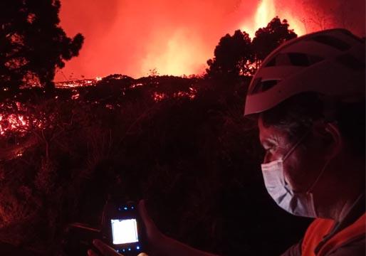 La erupción puede durar meses